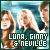 Ginny, Luna & Neville